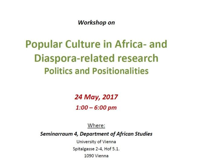 "Workshop ""Popular Culture in Africa- and Diaspora-related Research"""